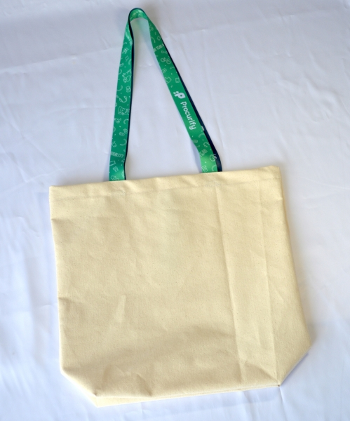 Made in Canada Cotton Canvas Tote with Sublimated handles