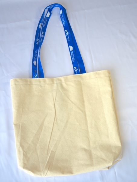 Made in Canada Cotton Canvas Tote with custom printed handles