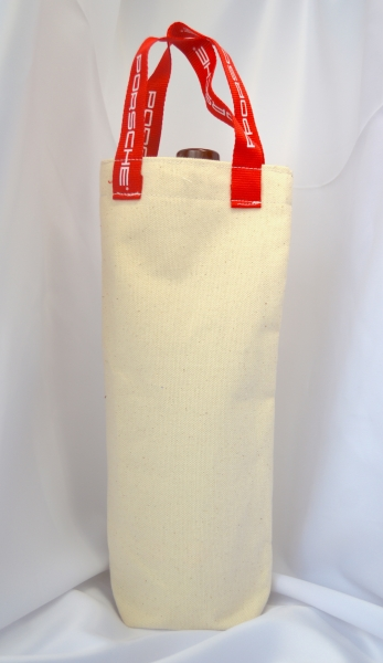 Made in Canada Cotton Canvas Single bottle Wine Tote with custom printed handles