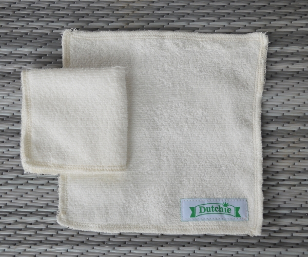 Made in Canada Organic Bamboo Cleaning Cloth / Face Cloth with Woven label