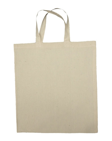 Cotton Flat Tote with Carry Handles (Made in Canada)