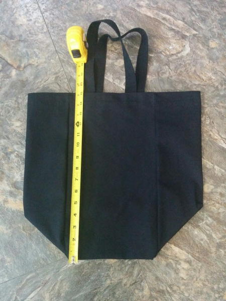 Cotton Canvas Cube Shopper Tote (Made in Canada)