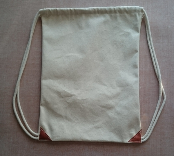 "12"" x 16"" Cotton Canvas Cinch Bag"