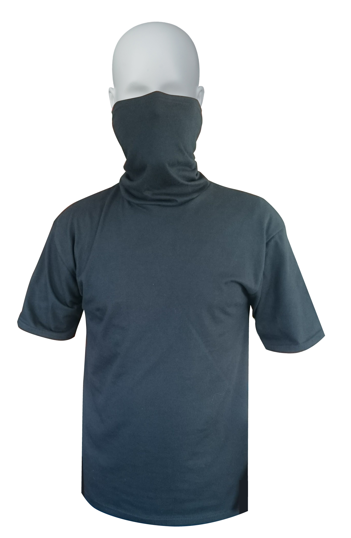 100% cotton ring-spun Unisex Gaiter Neck Tee