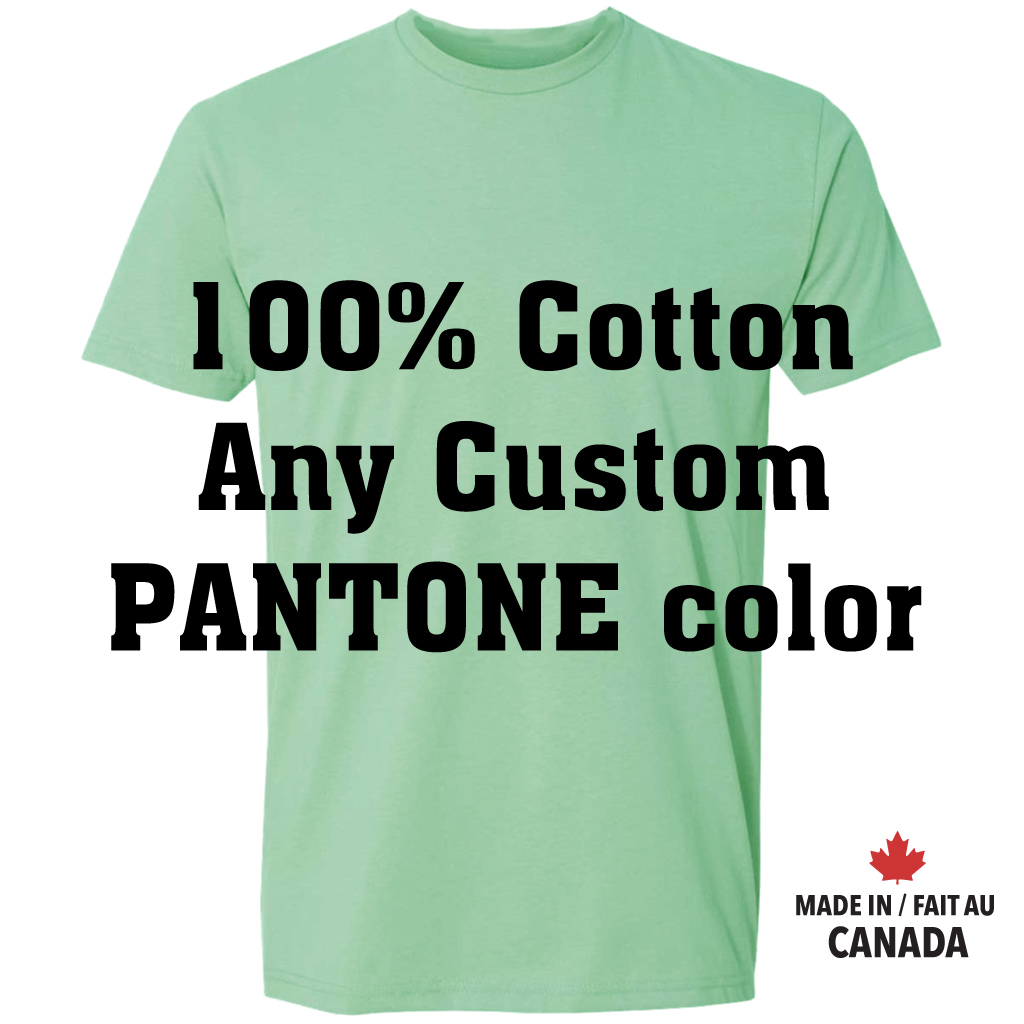 100% cotton ring-spun Unisex Custom Pantone color T-shirt