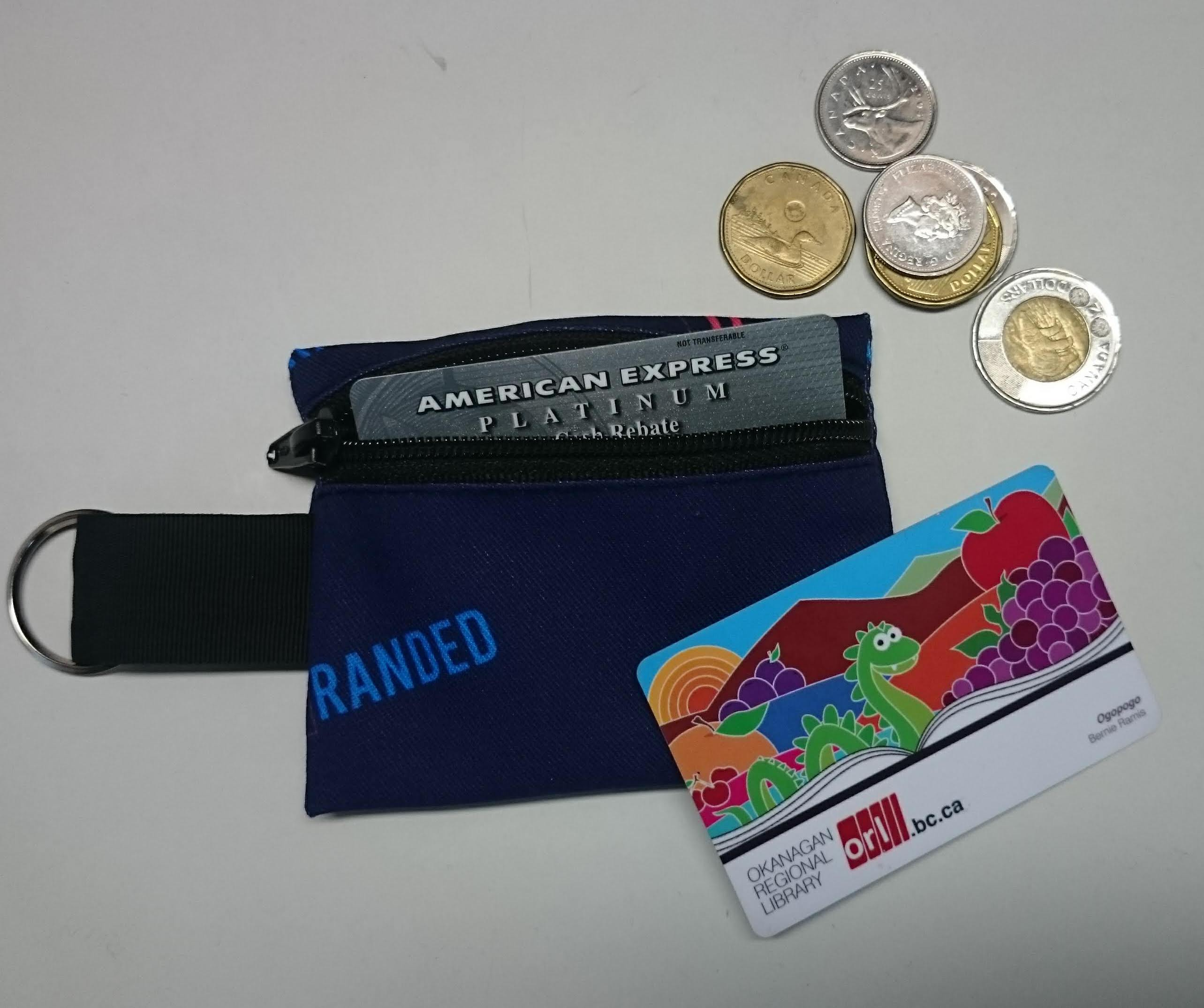 Sublimated zippered pouch key chain
