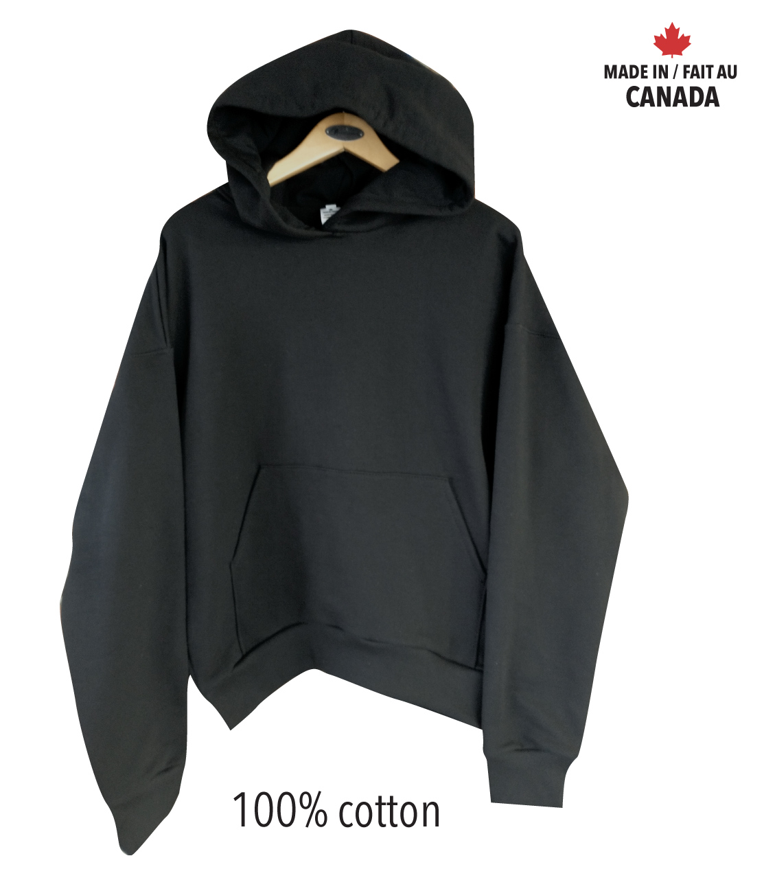 100% cotton Pullover Hooded Sweatshirt