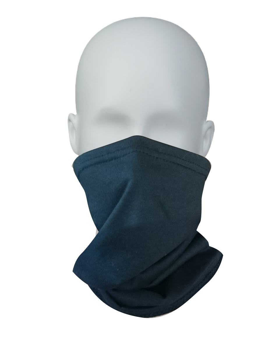 100% cotton single layer mid-length neck gaiter
